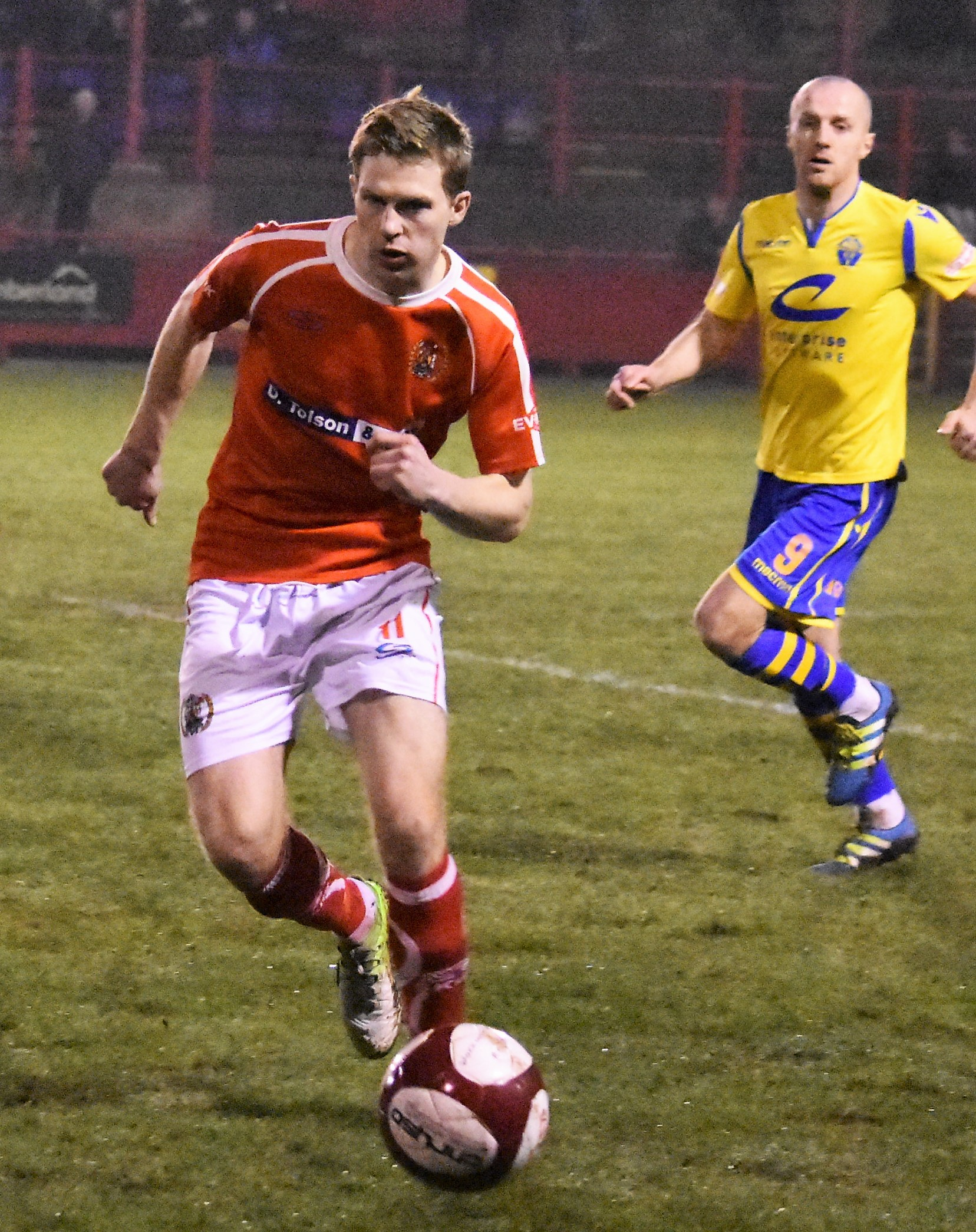 Conor Tinnion was singled out for praise by the Farsley boss