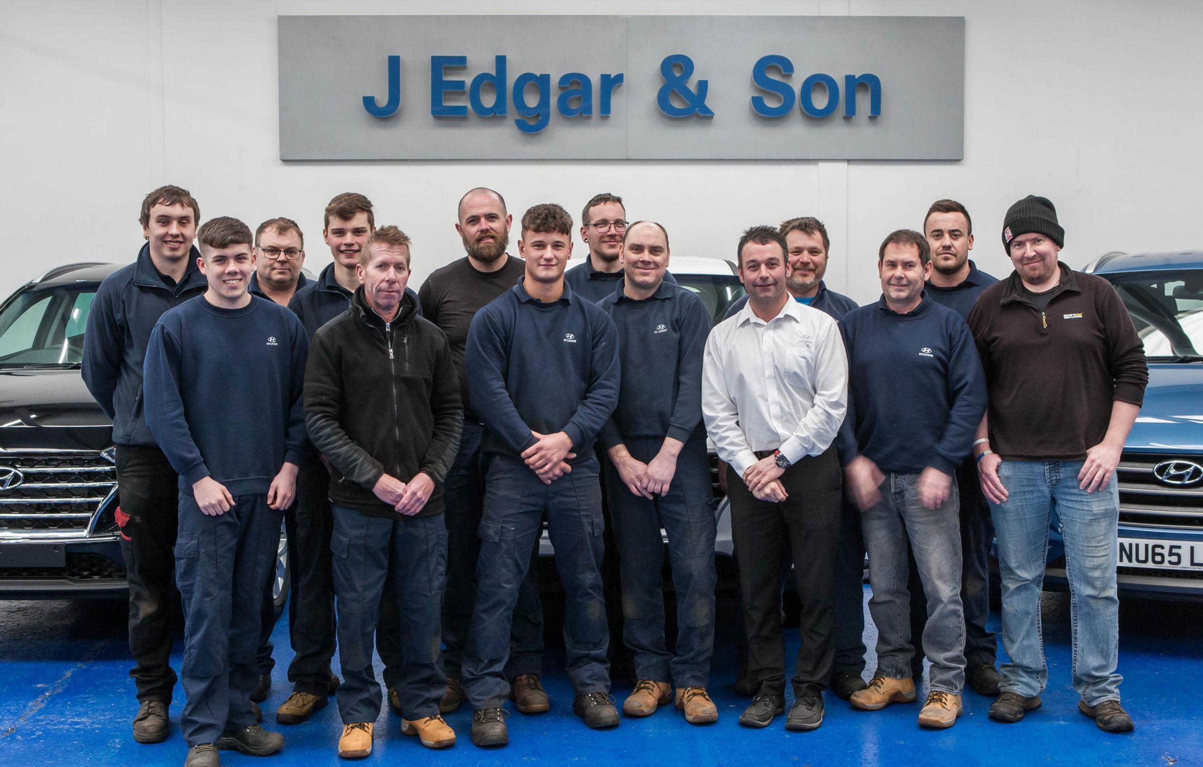 Winners: The team at J Edgar & Son, Workington