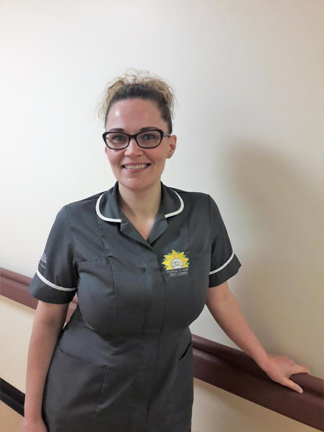 IMPROVING PATIENTS' QUALITY OF LIFE: Alana Vine works as a Lymphoedema nurse with Hospice at Home West Cumbria