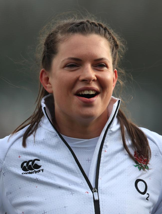 Try-scorer: Cumbrian Abbie Scott crossed in England's win over Italy