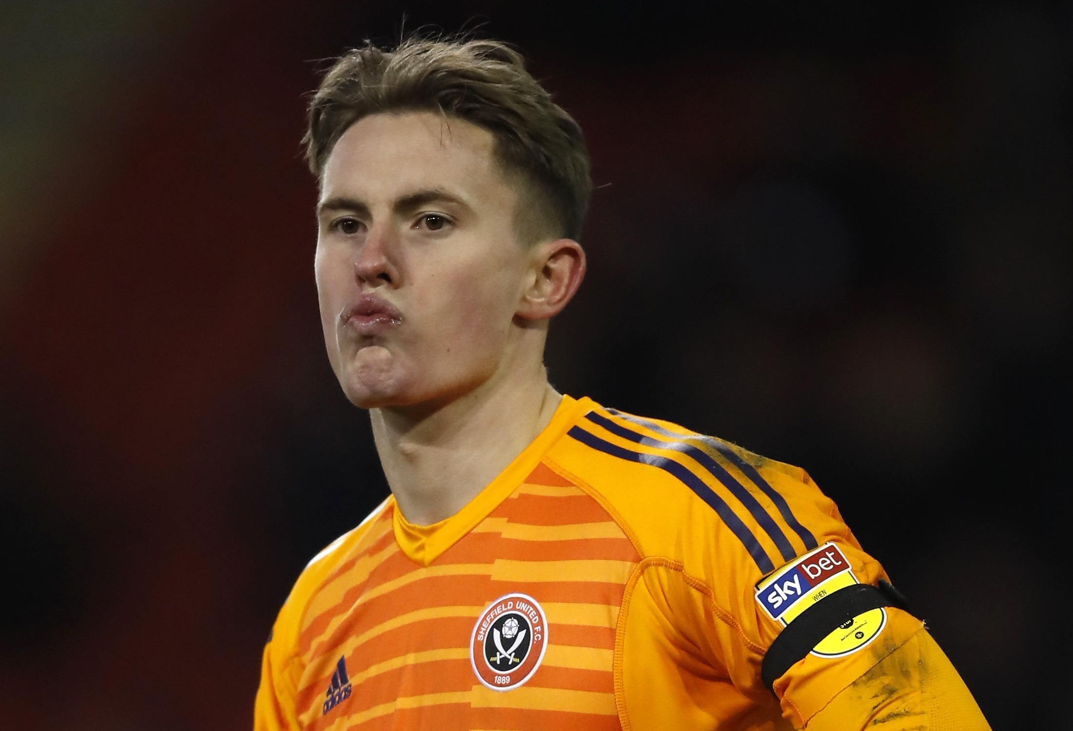 Sheffield United goalkeeper Dean Henderson after the Sky Bet Championship match at Bramall Lane, Sheffield