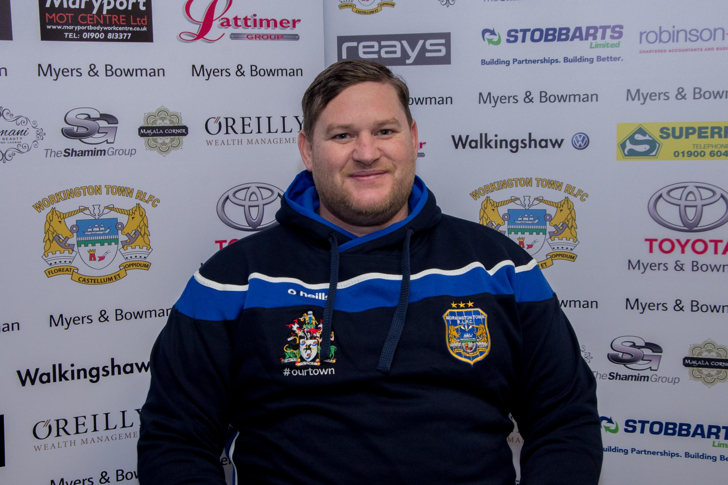 Workington Town assistant coach Craig McDowell. Picture: Gary McKeating