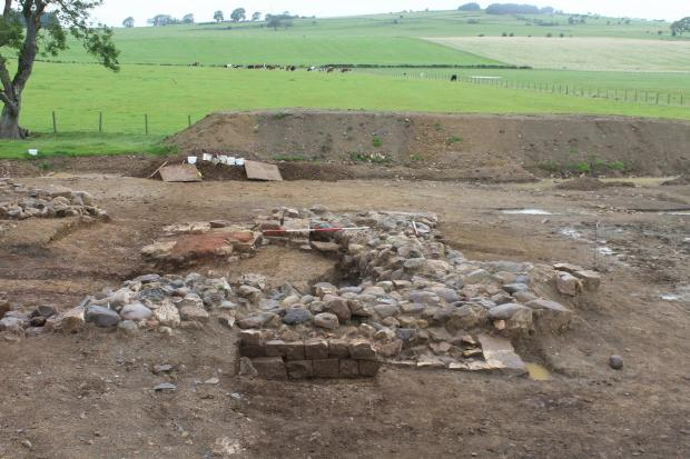 Times and Star: The site of the archaeological dig at Bridekirk
