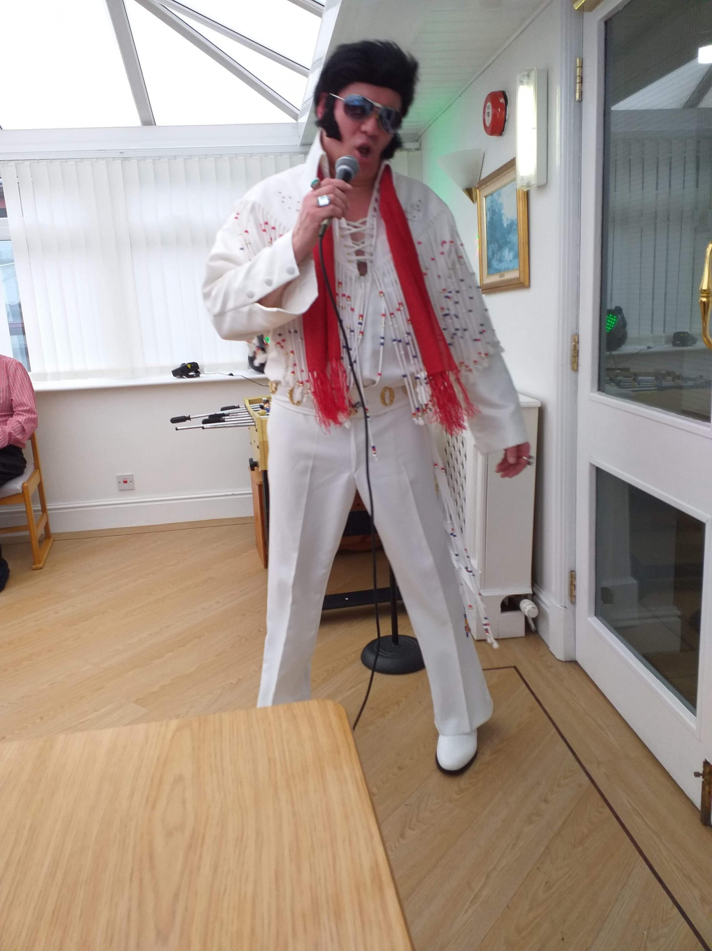 ELVIS IS IN THE BUILDING: Stephen Bailey ready to entertain