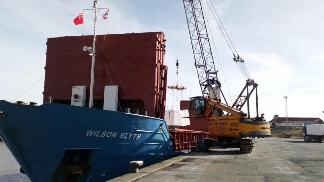 Wood pulp delivery to Port of Silloth for Futamura