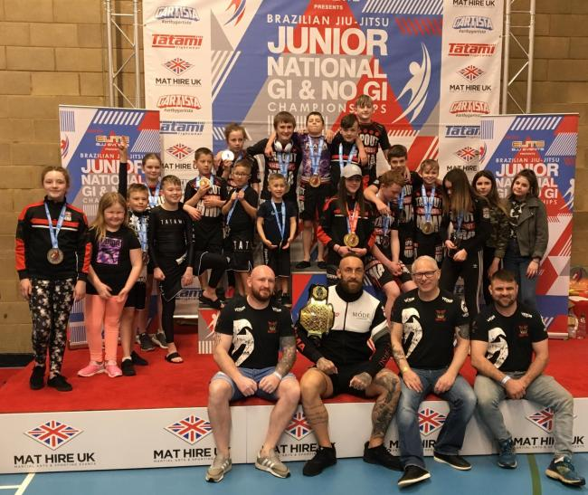 Tapout Knockout fighters at the Brazilian Jiu-Jitsu Junior National Gi & No Gi Championship