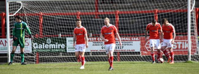 A dejected Reds go 0-2 down to Gainsborough (Ben Challis)