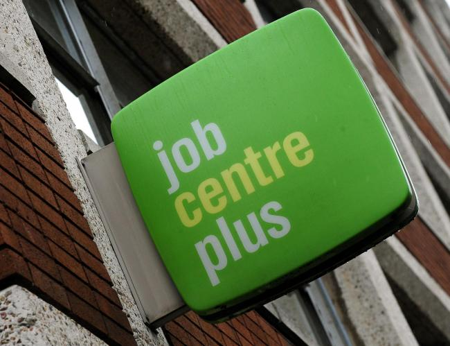 File photo dated 19/11/12 of a general view of a Job Centre Plus offices in Derby city centre. Chancellor of the Exchequer George Osborne announced today in his Autumn Statement of funding for Jobcentres to support 16 and 17 year olds in finding apprentic