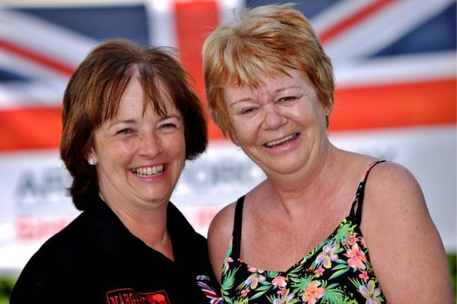 Lesley Jackson and Pat Lavine are organisers of the national Armed Forces Day celebrations in Workington..Pic Tom Kay    Monday 11th June 2018 50090212T002.JPG.
