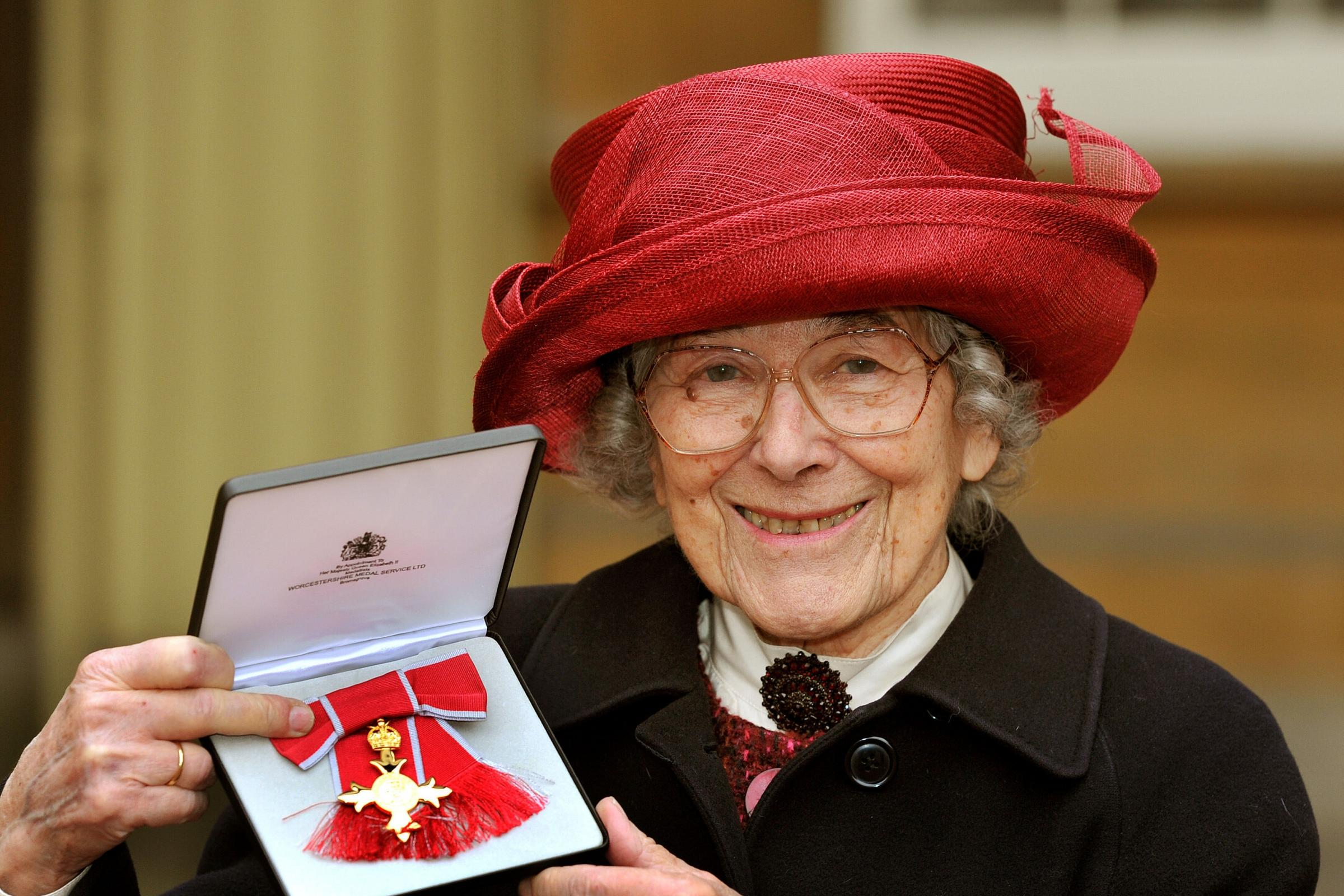Judith Kerr with her OBE medal
