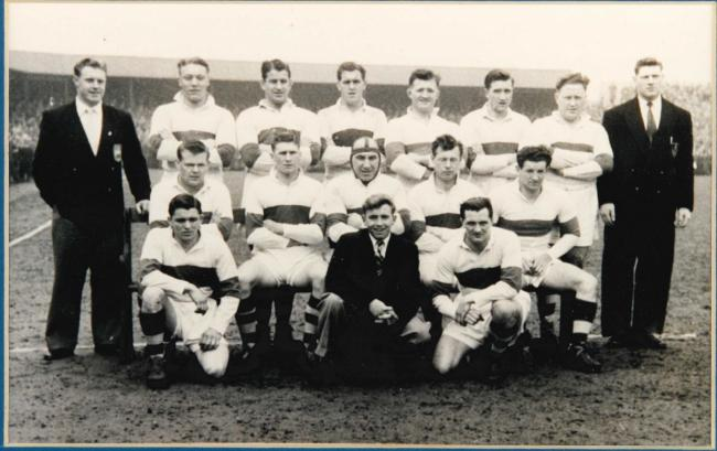 BACK IN THE DAY: Workington Town during the 1954-55 season, pictured at Borough Park
