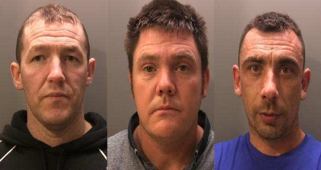 JAILED: Stephen Cliff, left, Mark Cooke middle and Jonathon Mackenzie           Picture: Cumbria Police