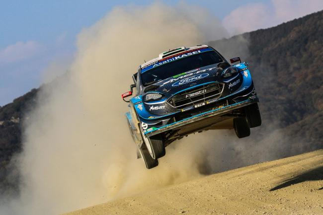 Flying high: M-Sport's Elfyn Evans and Scott Martin in action at Rally Mexico earlier this year